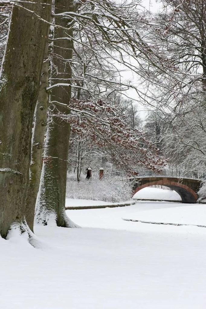 Sne i Frederiksberg have