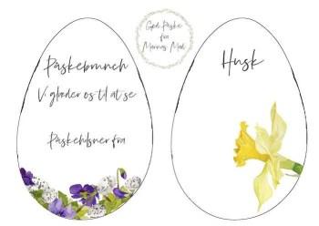 Udskriv invitation til påskebrunch