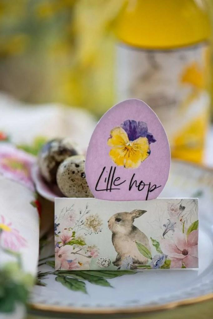 Udskriv fine bordkort til påske