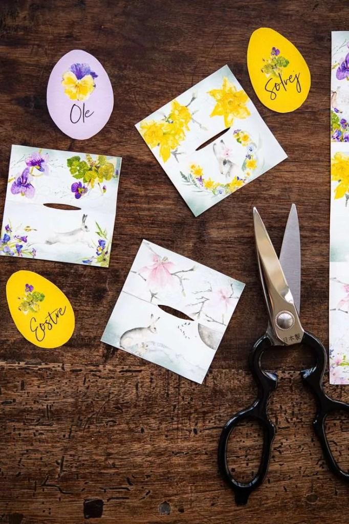 DIY på påskebordkort