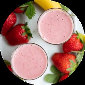 Opskrift på jordbær smoothie emd banan