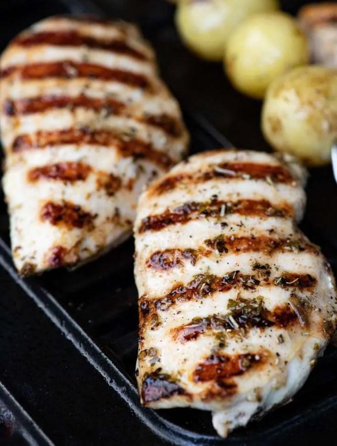 Opskrift på grillet græsk kyllingebryst
