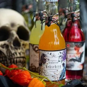 Halloween sodavand med etiketter du kan printe