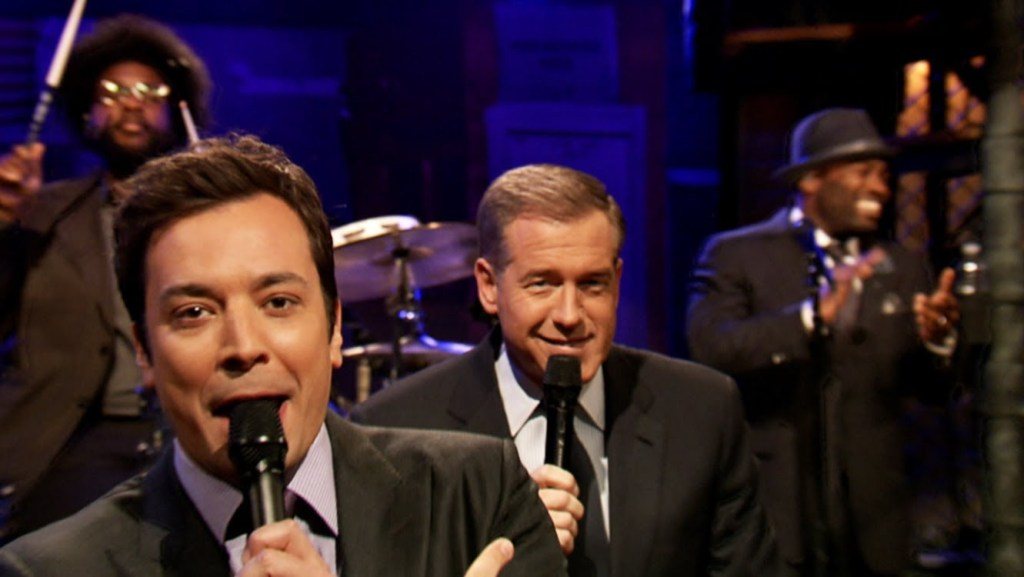 Jimmy Fallon and Brian Williams slow Jam the News