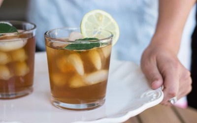 Ginger Mint Green Iced Tea