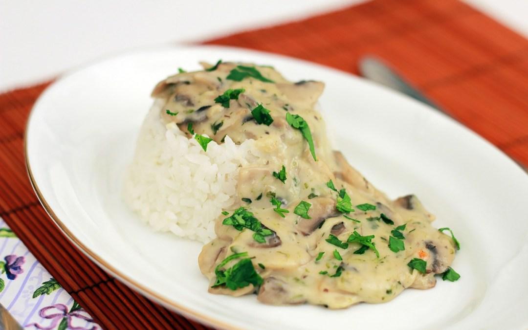 Dutch Oven Mushroom Rice