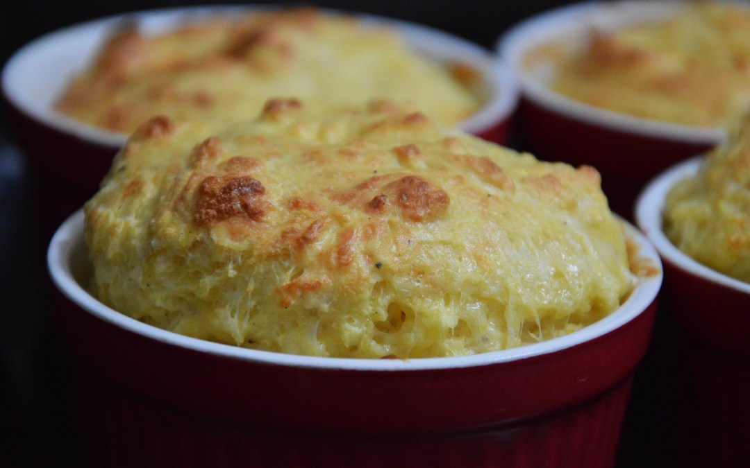 Cauliflower and Aged Gouda Souffles