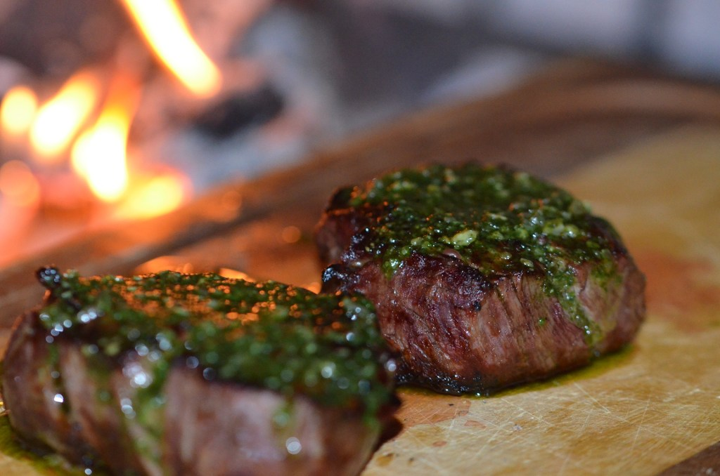 Cast Iron Steak with Chimichurri Sauce
