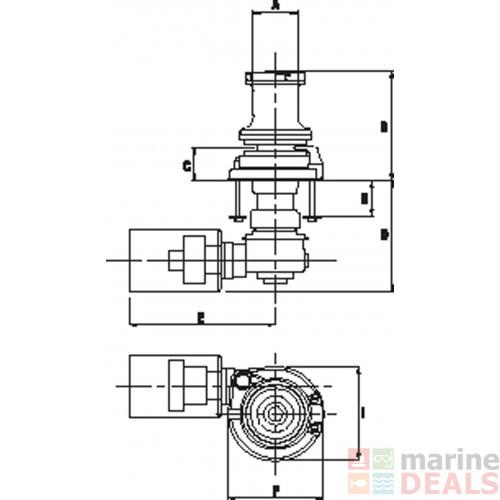 Buy Maxwell 3500 VW Hydraulic Vertical Windlass with