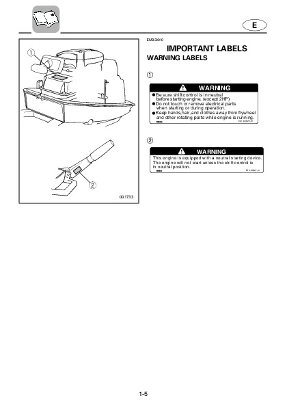 2004 Yamaha Outboard 8C Boat Motor Owners Manual