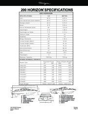Four Winns Horizon 180 190 200 Boat Owners Manual, 2002,2003