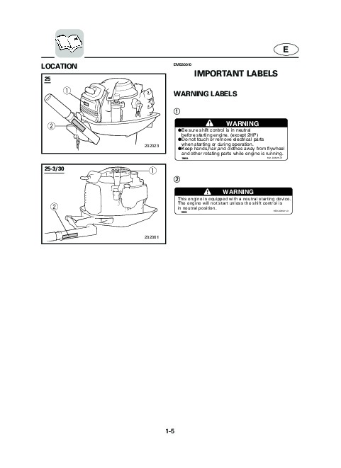 2004 Yamaha Outboard 25C Motor Owners Manual