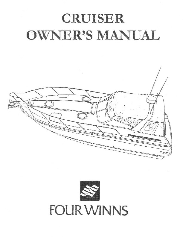 Four Winns 235 265 285 315 325 365 Owners Manual, 1987