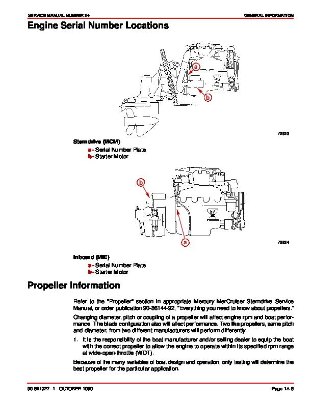 Mercury MerCruiser Engines Service Owners Manual Number 24