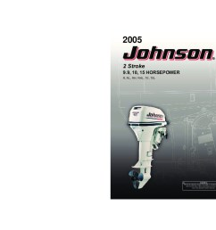 2005 johnson 9 9 10 15 hp r rl rhl te tel 2 stroke outboard owners manual [ 1008 x 792 Pixel ]