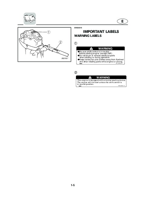 2004 Yamaha Outboard 9.9C 15C Boat Motor Owners Manual