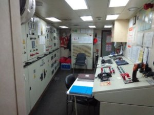Ship Engine control room