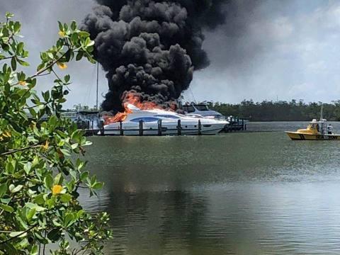boat got fire in jetty