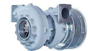 Marine engine turbocharger