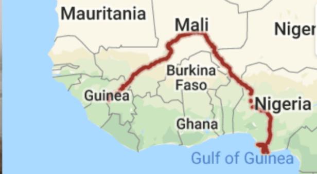 River Niger, off Nigeria pirates Attack