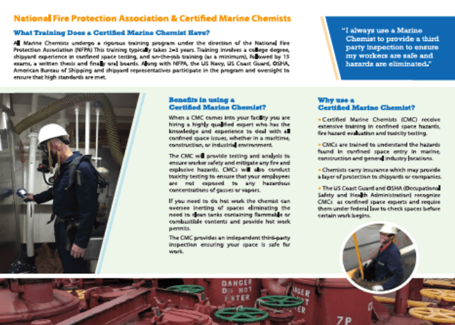 marine chemist association confined space expert