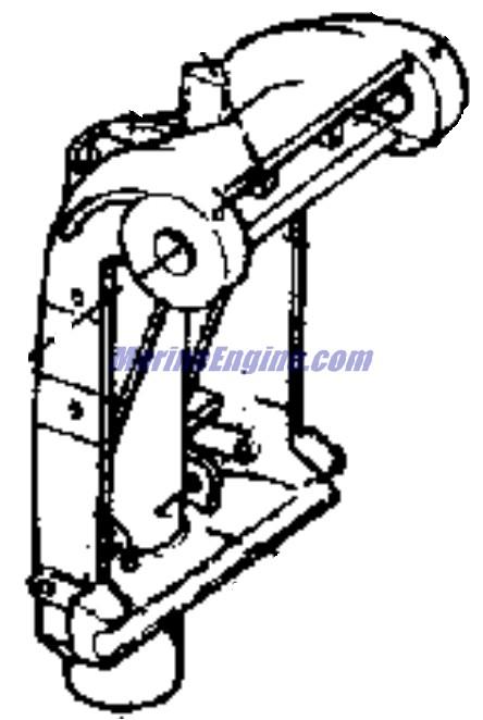 Johnson Exhaust Housing Parts for 1976 55hp 55EL76E