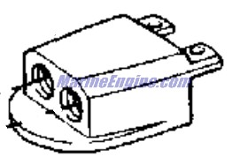 Remote Oil Filter Kit 4.3 Models Accessories for 1993 OMC