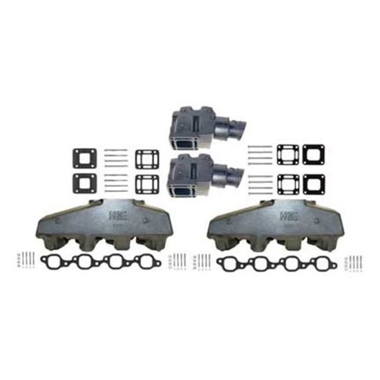 7 4l 454 8 2l 502ci big block mercruiser style manifold riser kit replaces 89011a8