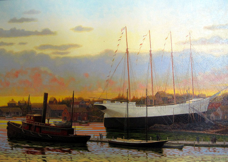 krupinsky eleanora - A look at the J. Russell Jinishian Gallery Fine marine art in Fairfield