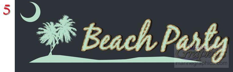 Beach Party Boat Lettering