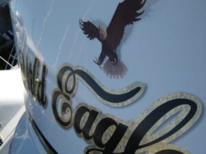 Digital Printed Eagle with Gold Overlay