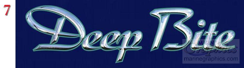 Deep Bite Boat Lettering