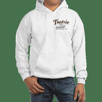 Mens hooded sweatshirt with boatname