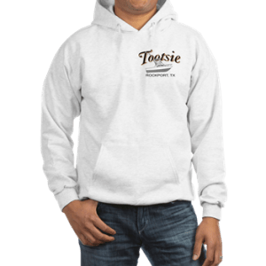 Mens hooded sweatshirt with boatname