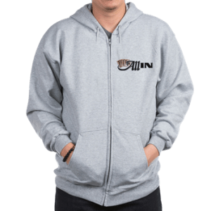 Mens Zip Hoodie with boat name
