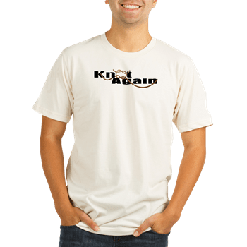 Organic Men's Fitted T-shirt with boat lettering