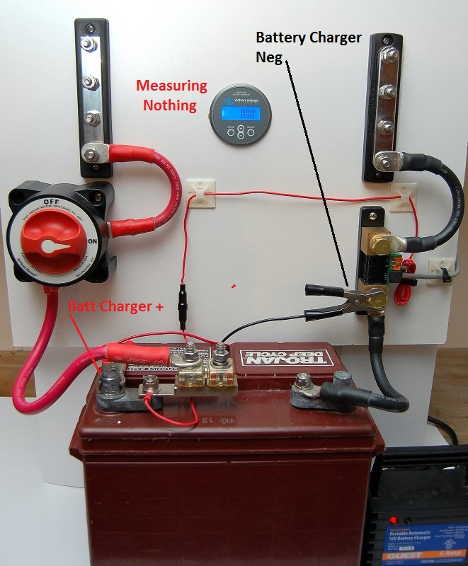 12v wiring diagram for boats uk plug installing a battery monitor marine how to take note of the location black alligator clip in next picture good example why it really does matter where your negative system wires