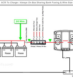 the acr to that bus with the same size wire the banks are already using in the example below the banks are wired with 2 0 wire and fused at 300a  [ 1366 x 825 Pixel ]