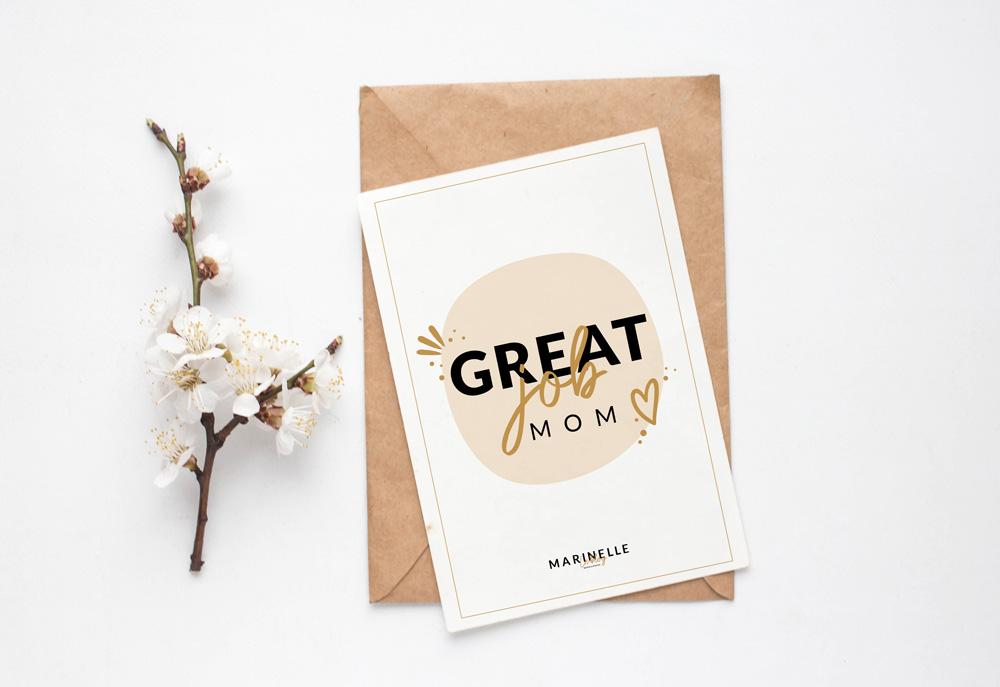 Carte pour la Fête des mères - Great job mom
