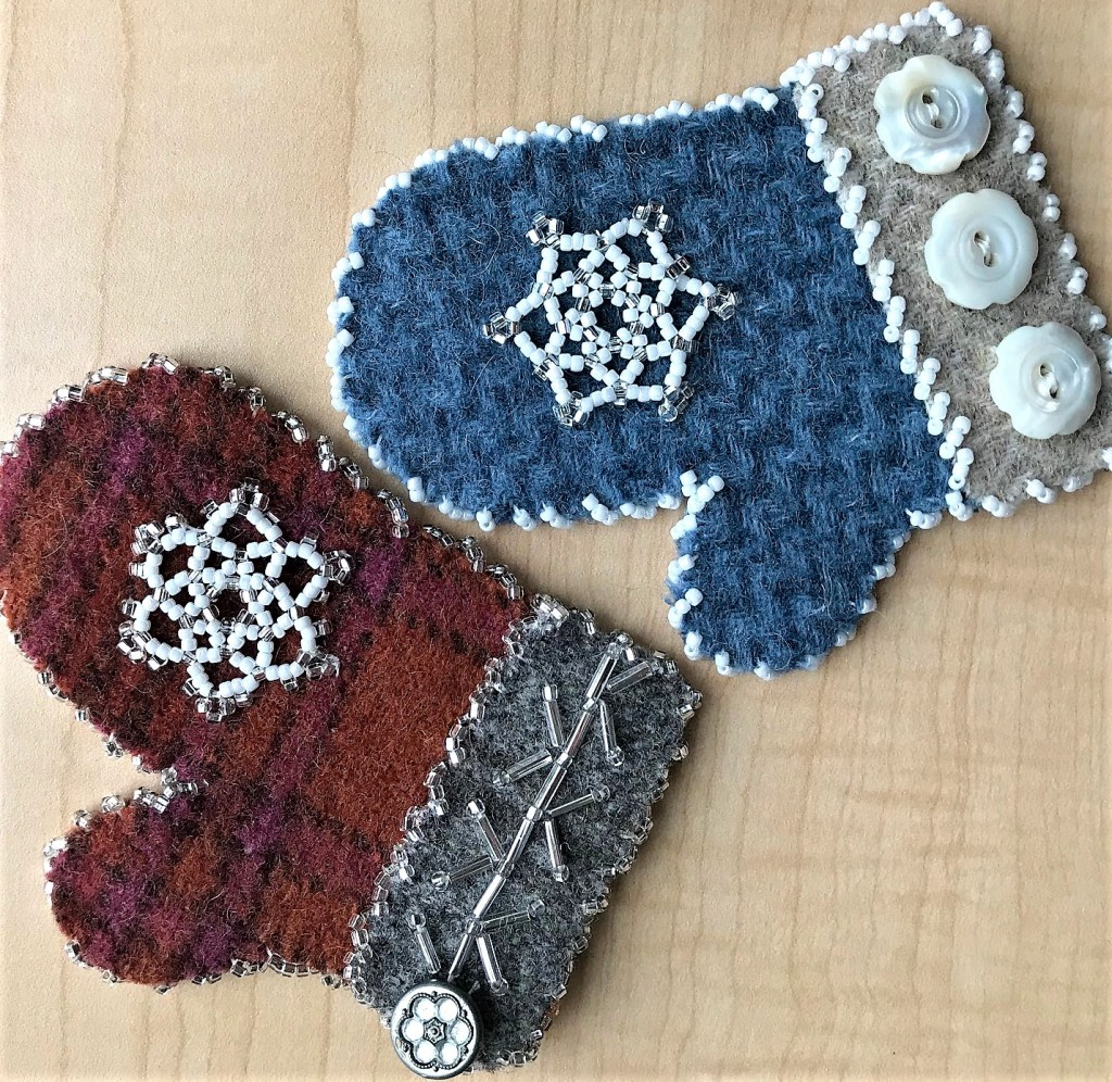 Snowflake Wool Mittens photo