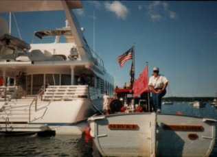 I was legitimately a captain of a registered tanker. The Service. I fueled boats and yachts around the harbor.