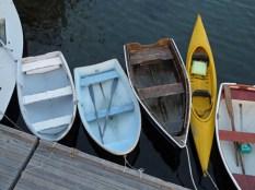 Row boats.