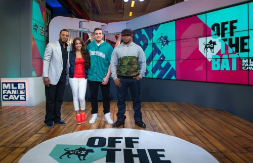 Robinson Cano on the set of MTV2's Off the Bat.