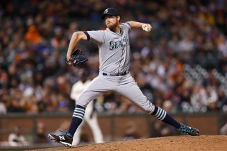 SAN FRANCISCO, CA - JUNE 15: Charlie Furbush #41 of the Seattle Mariners pitches in the ninth innning against the San Francisco Giants at AT&T Park on June 15, 2015 in San Francisco, California. (Photo by Lachlan Cunningham/Getty Images)