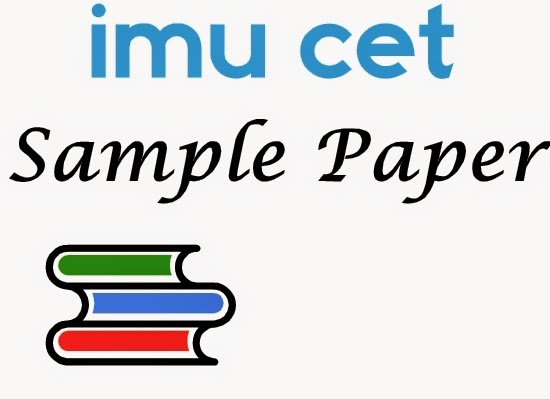 imu cet sample paper
