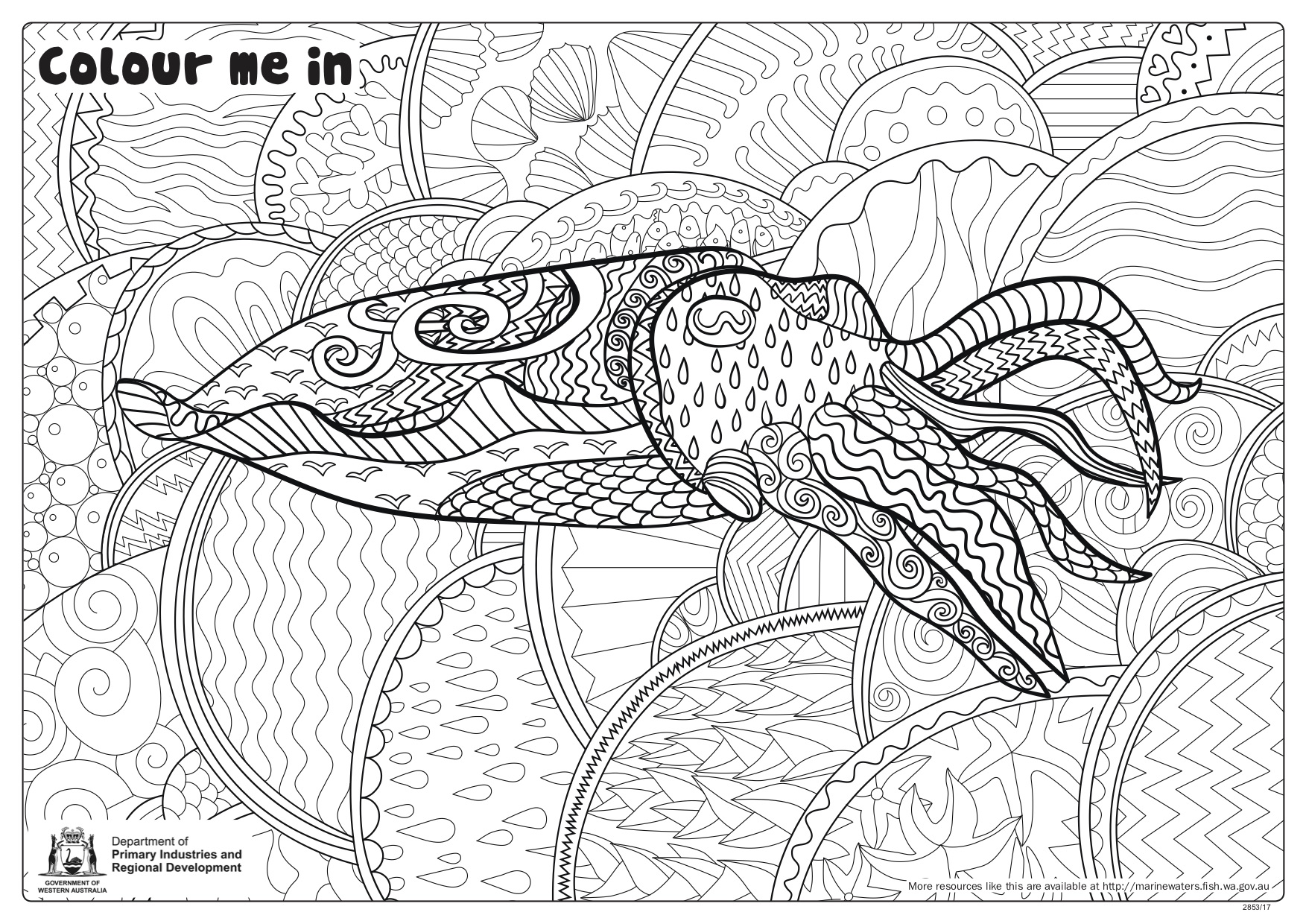 Fishy Fun Sheet Cuttlefish