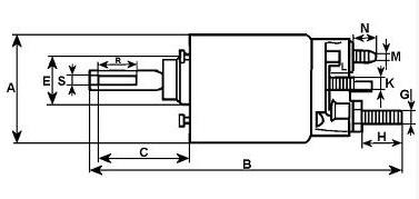 Solenoid startmotor MD1B, 2B, 3B, 5, 17C, 2002/3, B20
