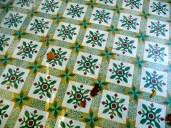 Azulejos en la planta de un Kiosko en el Señorío de Bertiz