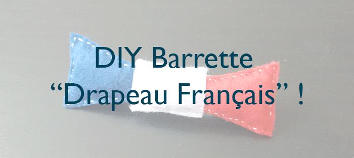 Il était une maille - DIY Barrette Feutrine Drapeau France