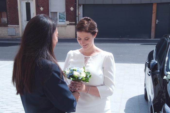 Marinoushka - Notre rencontre à la mairie, la remise du bouquet